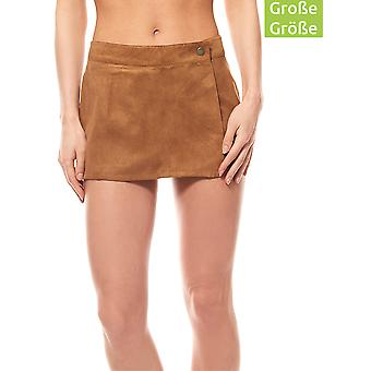 Aniston of shorts ladies plus size faux leather Brown