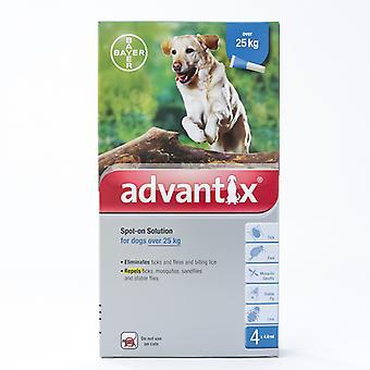ADVANTIX per cani di taglia gigante sopra 55lbs(25kg), confezione da 4