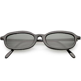 True Vintage Small Frame Oval Sunglasses Horn Rimmed 49mm