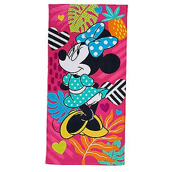 Disney Minnie Mouse Rosa 28 x 58 Strandtuch