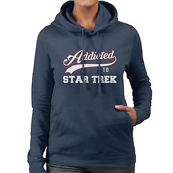 Addicted To Star Trek Baseball Font Women's Hooded Sweatshirt