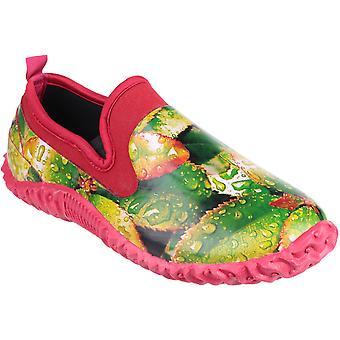 Cotswold Ladies Backdoor High Def Print Waterproof Garden Shoe Green