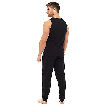 Tom Franks Mens Polycotton Vest en broek Lounge Pyjamas