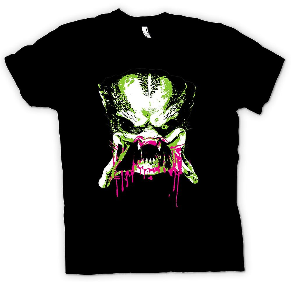 Womens T-shirt - Predator Alien - Pop Art - Face - Movie