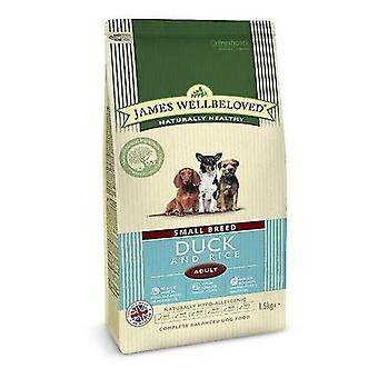 James Wellbeloved Small Breed Adult Ente & Reis trocken Hundefutter - 1,5 kg