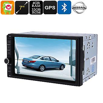 2 DIN Car Media Player - 7 Inch Display, For Nissan Cars, Bluetooth, WiFi, 3G, Octa-Core, 4GB RAM, GPS, HD Display, Android 8.0