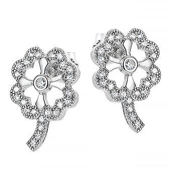 Orphelia Silver 925 Earring Clover Stud With Zirconium  ZO-7335