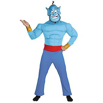 Genie Aladdin Muscle Disney Arabian Cartoon Story Book Week Mens Costume XL