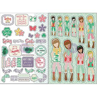 Julie Nutting Planner Monthly Stickers 2/Pkg-March