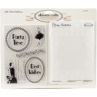 Ultimate Crafts The Ritz Stamp & Embossing Folder Set-Classy Invitation