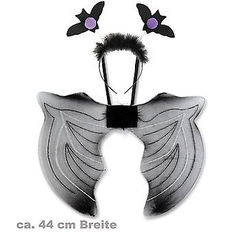 Bat-set wing 44cm headband accessory Carnival Halloween