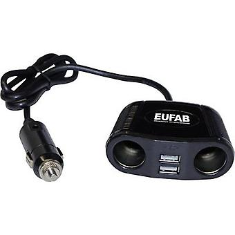 In-car 12V splitter No. of 12V connectors 2 x Interfaces: USB 2 x Max. load capacity 10 A Eufab 16549