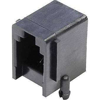 Modular mounted socket Socket, horizontal mount Number of pins: 4 MJUSE44GAB Black econ connect MJUSE44GAB 1 pc(s)