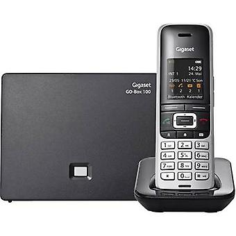 Gigaset S850A GO Cordless VoIP Answerphone Colour TFT/LCD Platinum, Black