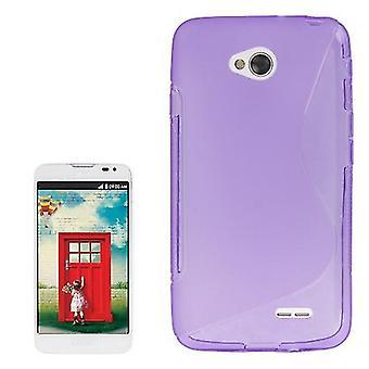 Ligne Mobile Shell S TPU cas pour LG L70 / dual D325 pourpre / violet