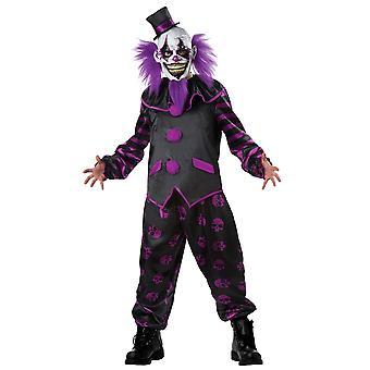 Bearded Clown Joker Jester Horror Creepy Evil Scary Halloween Mens Costume XL