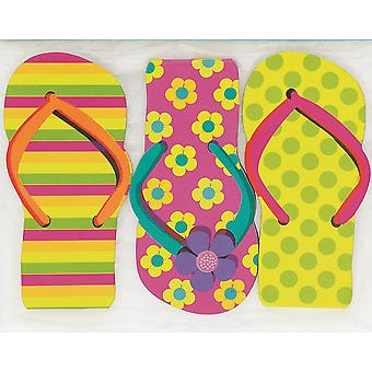 12 Flip Flop Note Books for Tropical Luau Summer Parties