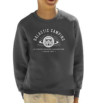 Original Stormtrooper galaktischen Camping Kids Sweatshirt