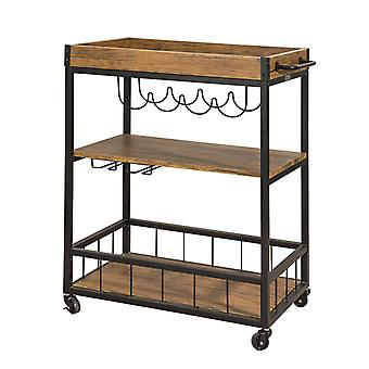 SoBuy industriale metallo legno Vintage 3 livelli cucina carrello FKW56-N