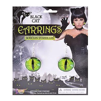 Bnov Black Cats Eyes Earrings