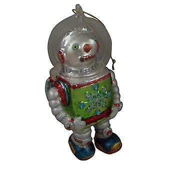 Xmas Decorations Gisela Graham Snowman Robot Collectable