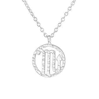 Skorpionen Zodiac Sign - 925 Sterling Silver Plain halsband - W36715x