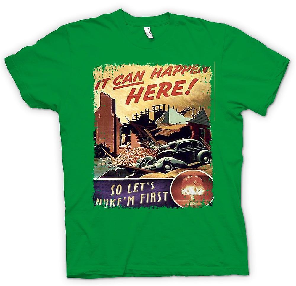 Hommes T-shirt - Guerre froide vintage d'affiche de Nuke Em