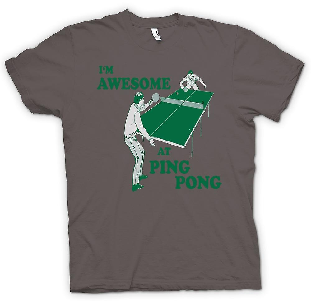 Womens T-shirt - I'm Awesome At Ping Pong - Quote
