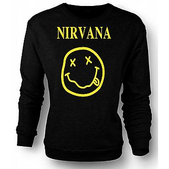 Mens Sweatshirt Nirvana Smiley Face