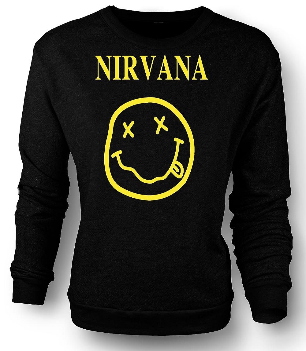 Mens Sweatshirt Nirvana Smiley Face