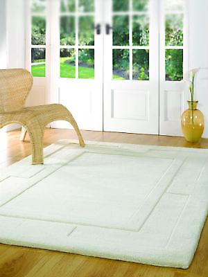 Apollo Ivory  Rectangle Rugs Plain/Nearly Plain Rugs