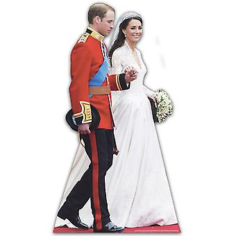 Prince William and Katherine Middleton - Lifesize Cardboard Cutout / Standee (Royal Wedding Dress)