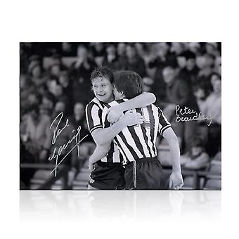 Paul Gascoigne und Peter Beardsley signiertes Newcastle United Photo
