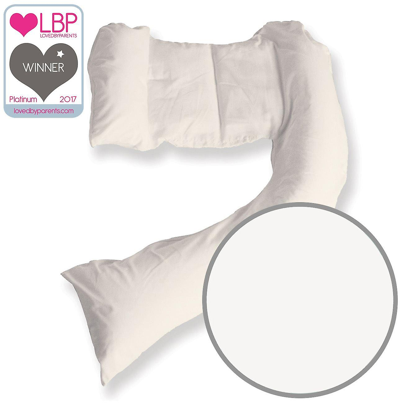 DreamGenii blanc Cotton Jersey Pregnancy Support and Feeding PilFaible