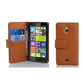 Cadorabo Case for Nokia Lumia 1320 Case Cover - Structured Faux Leather Phone Case with Stand Function and Card Case - Case Cover Case Case Case Case Case Book Folding Style