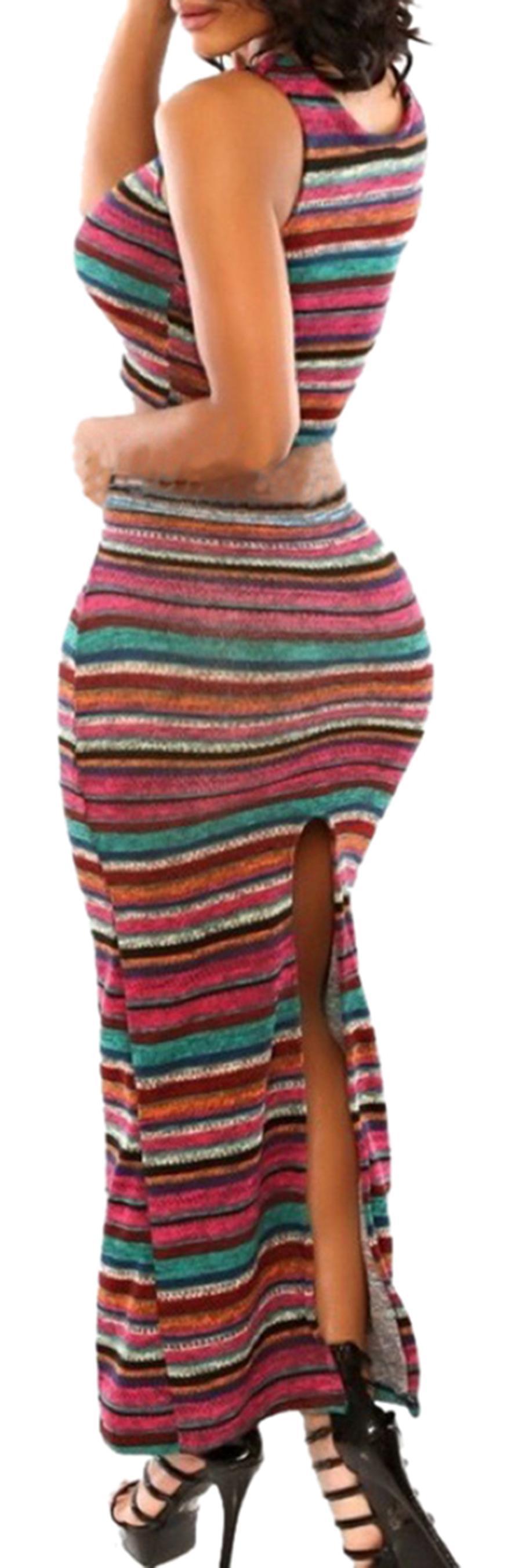 Waooh - Set top and skirt slit Moir