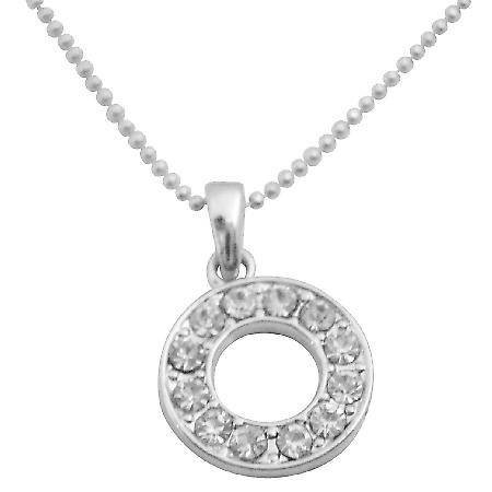 O Alphabet Pendant Have Your Name Pendant Shimmering Sparkling Pendant