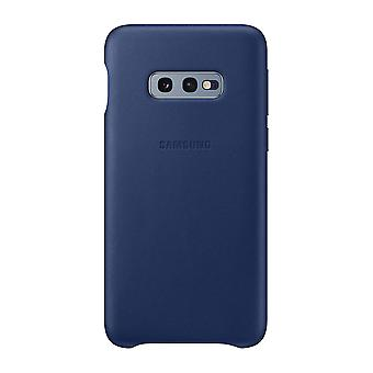 Samsung leather cover Navy for Samsung Galaxy S10e G970F EF VG970L bag case protective cover