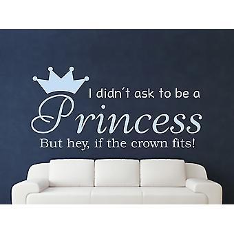 Being A Princess v2 Wall Art Sticker - Pastel Blue
