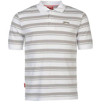 Slazenger Mens piqué YD Polo Shirt Tee haut rayure Smart Casual manches courtes