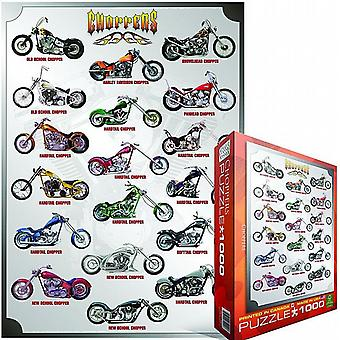 Choppers 1000 piece jigsaw puzzle   (pz)