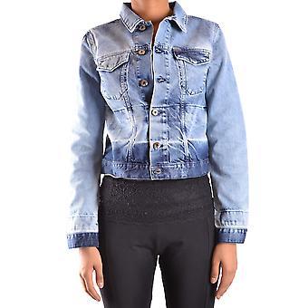 Diesel Blue Cotton Outerwear Jacket