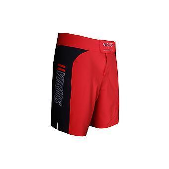 Virus Mens Disaster Combat Fight Shorts - Red/Black - fitness gym training