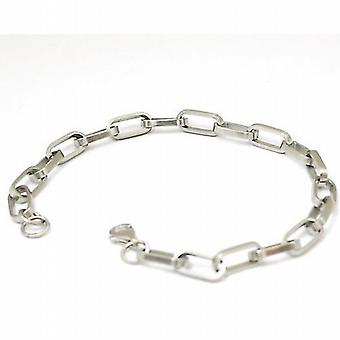 Brushed Metal Square Link Bracelet by TOC