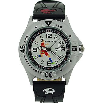 Cannibal Active Boys Black PU Strap Children's Football Watch CJ191-03
