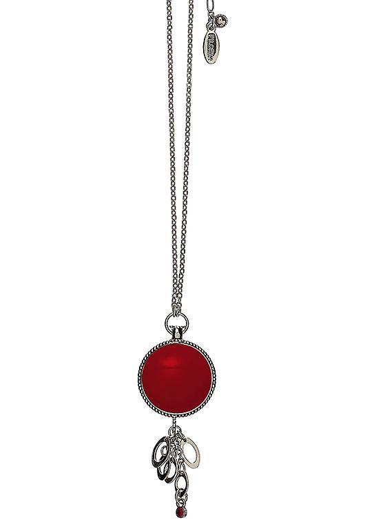 Damenkette Pellegrino: intramontabile rosso/argento (520301)