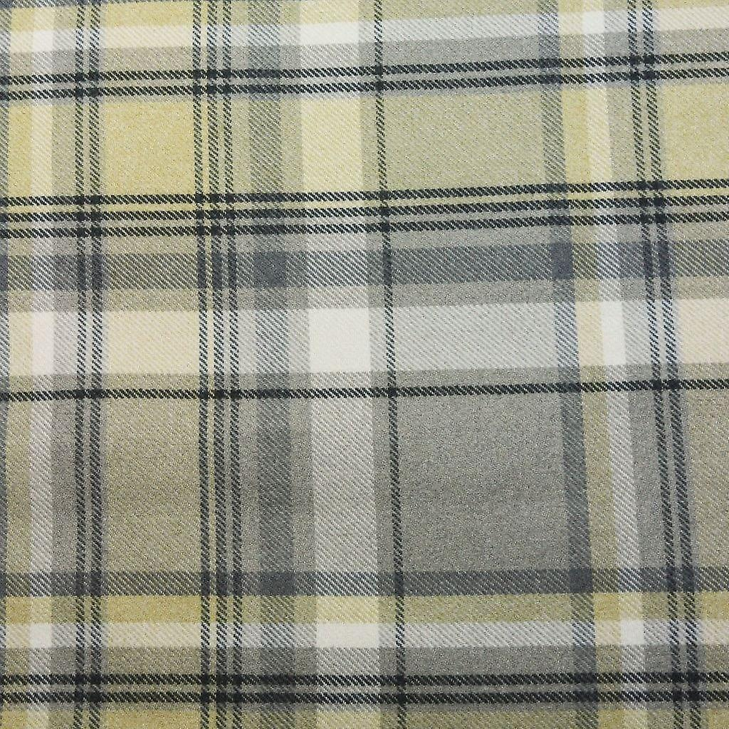 Mcalister textiles heritage tartan yellow + grey fabric draught excluder
