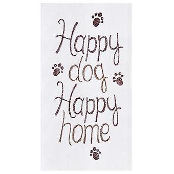 الكلب سعيداً كيس الدقيق منزل سعيد المطبخ منشفة القطن 27 بوصة