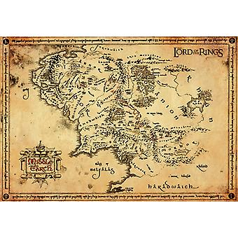 Lord of the Rings Parchment Map Parchment Poster 47x67cm