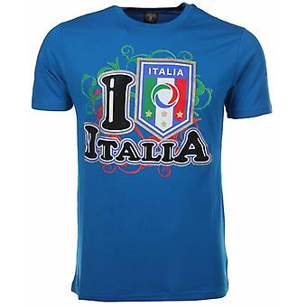 T-Shirt I Love Italia-Blue